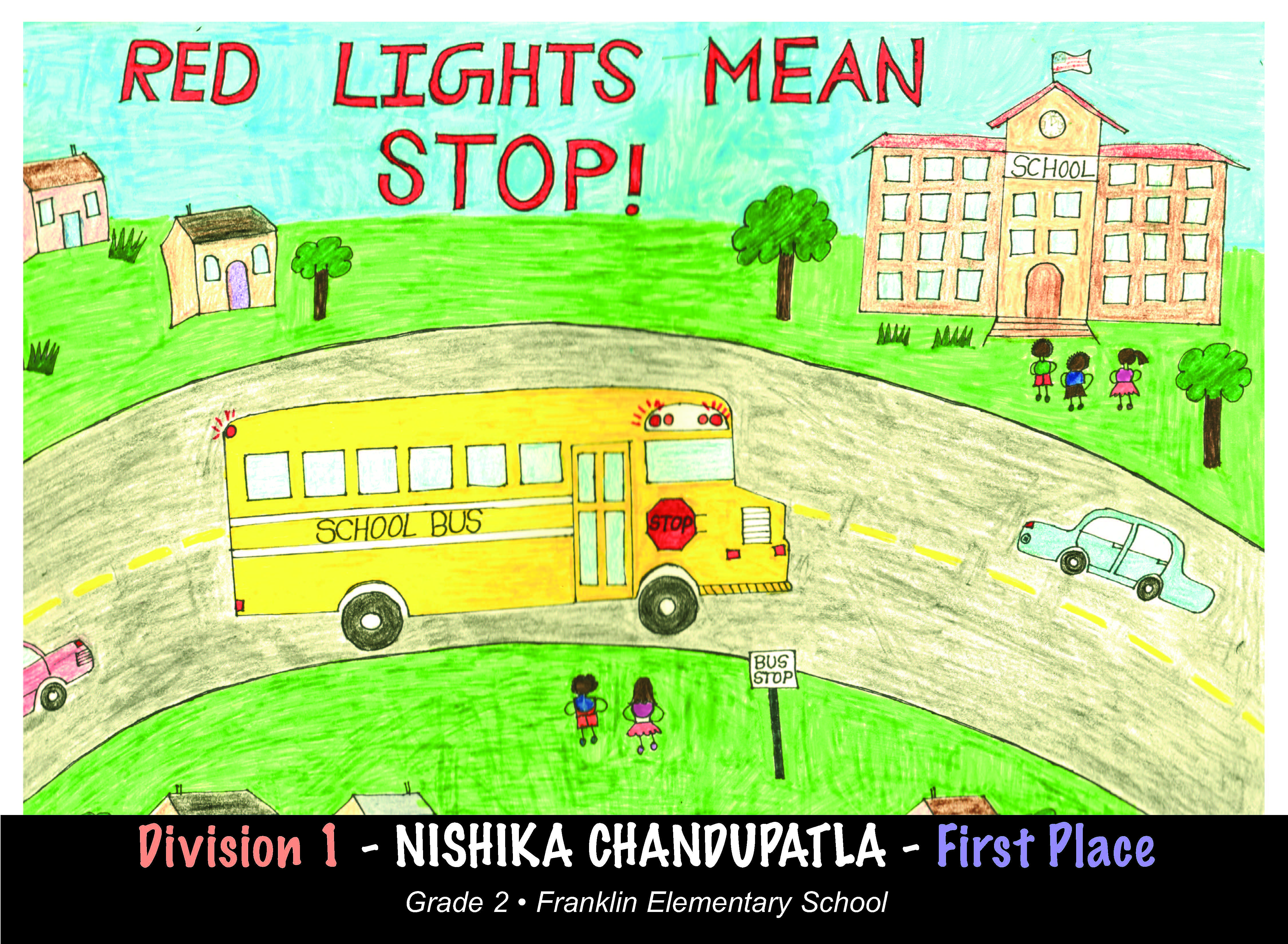 School bus safety poster Division 2 winner