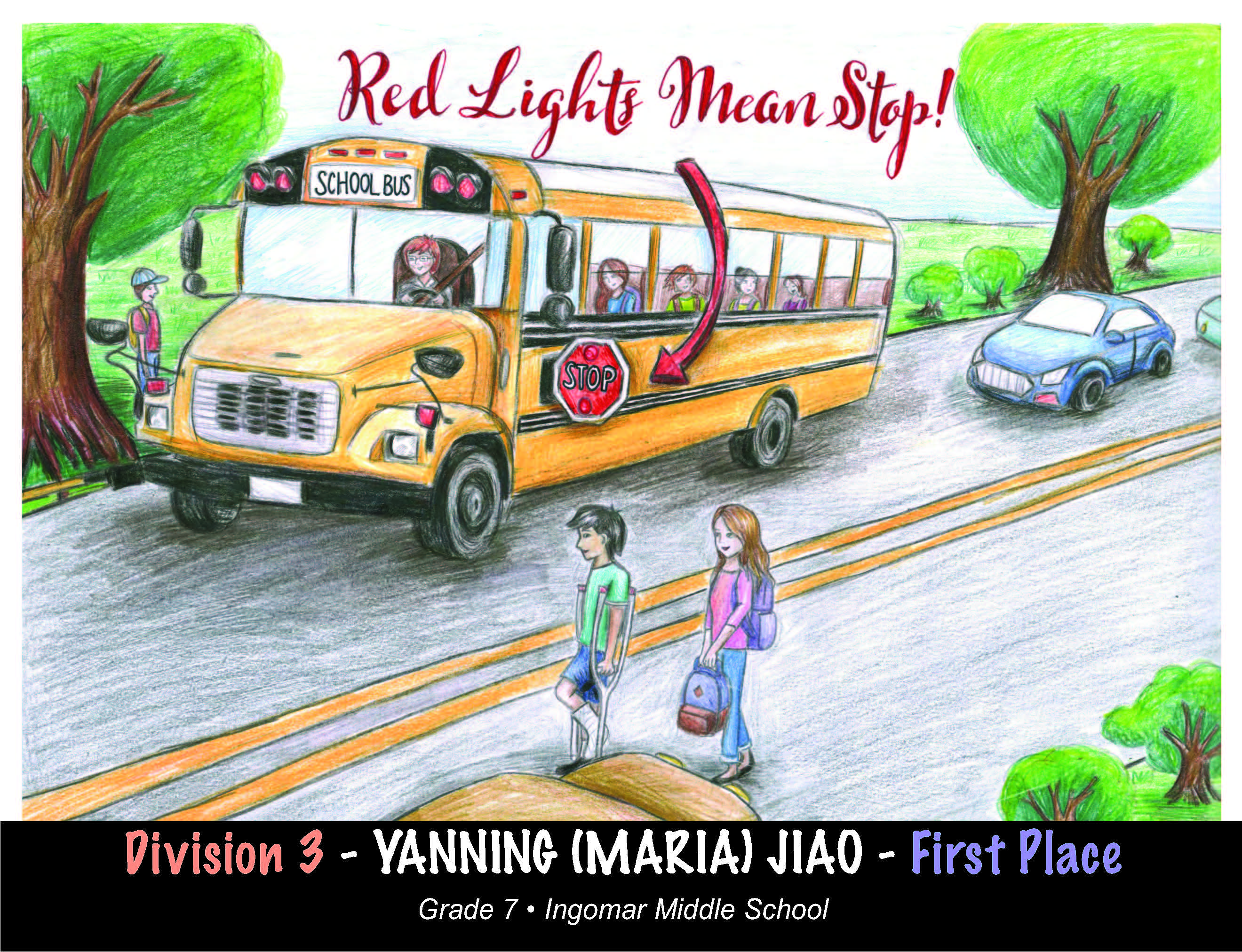 School bus safety poster Division 3 winner