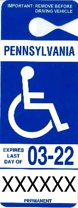 permanent persons with disability parking placard