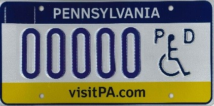 persons with disability registration plate