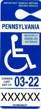 severely disabled veteran placard