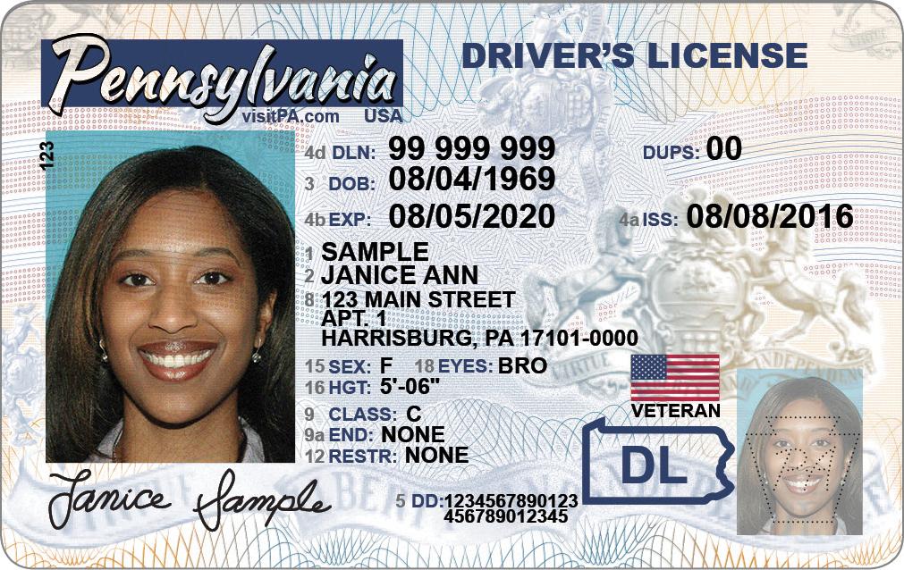 Veteran Designation On Pa Driver S License