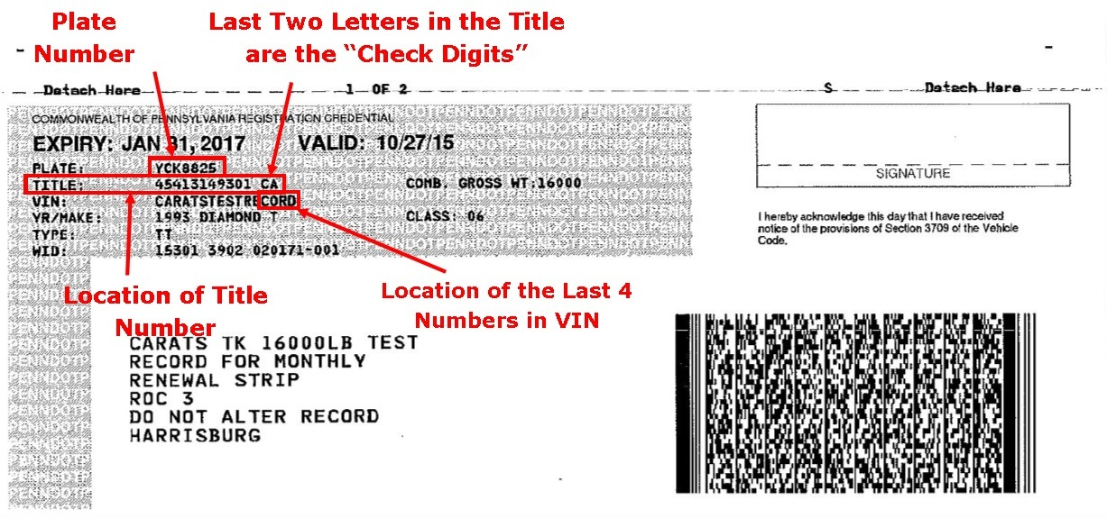 Where title number for New jersey department of motor vehicles phone number