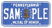 Medal of Honor plate