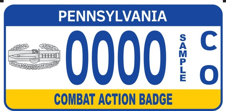 Combat Action Badge plate