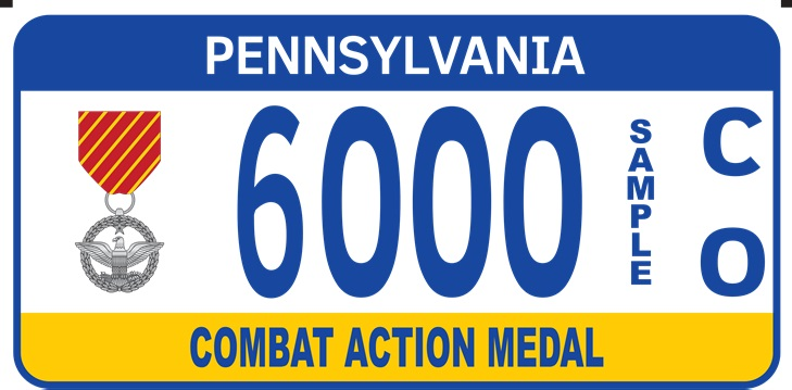 Combat Action Medal plate
