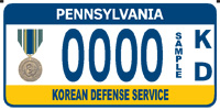 Korean Defense Service plate