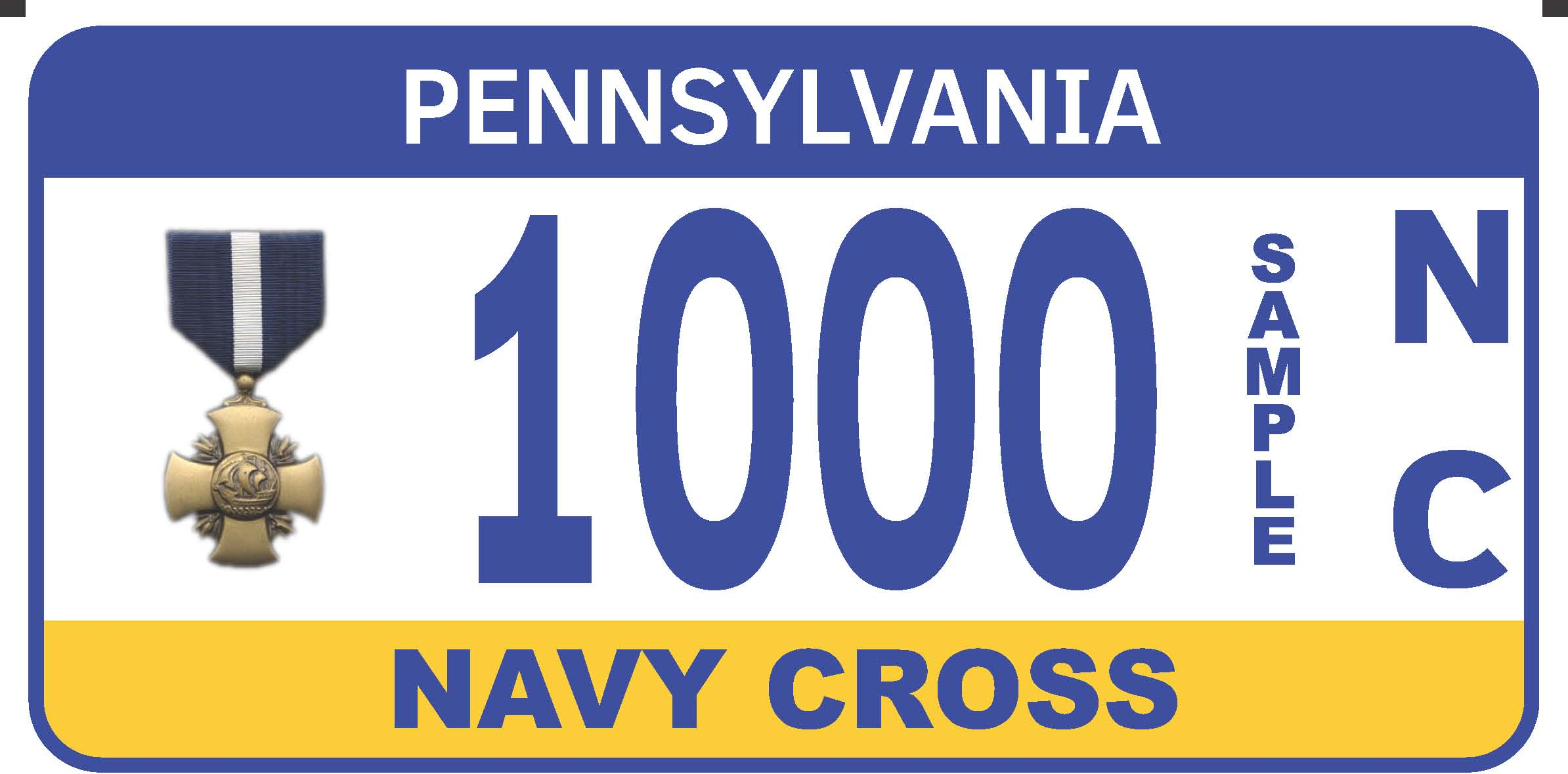 Navy Cross plate