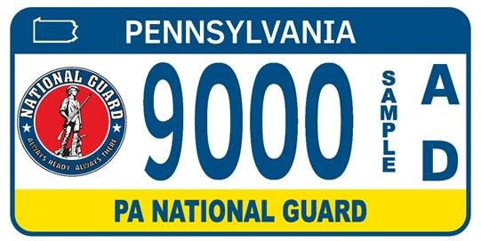 Pennsylvania National Guard plate