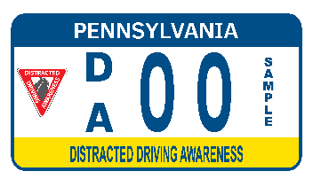 The Dsitricated Driving Awareness Motorcycle Plate
