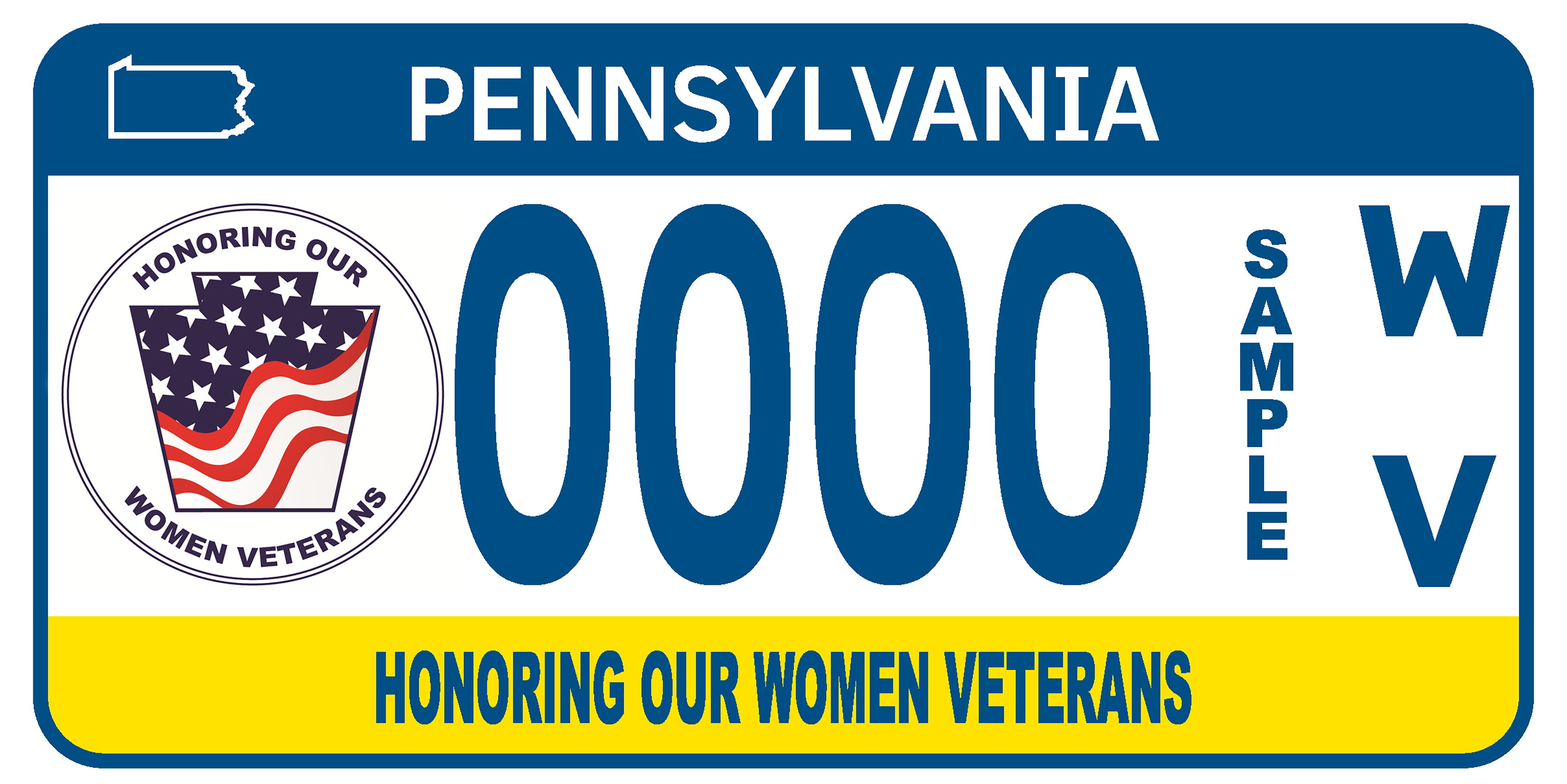 Honoring Our Women Veterans license plate
