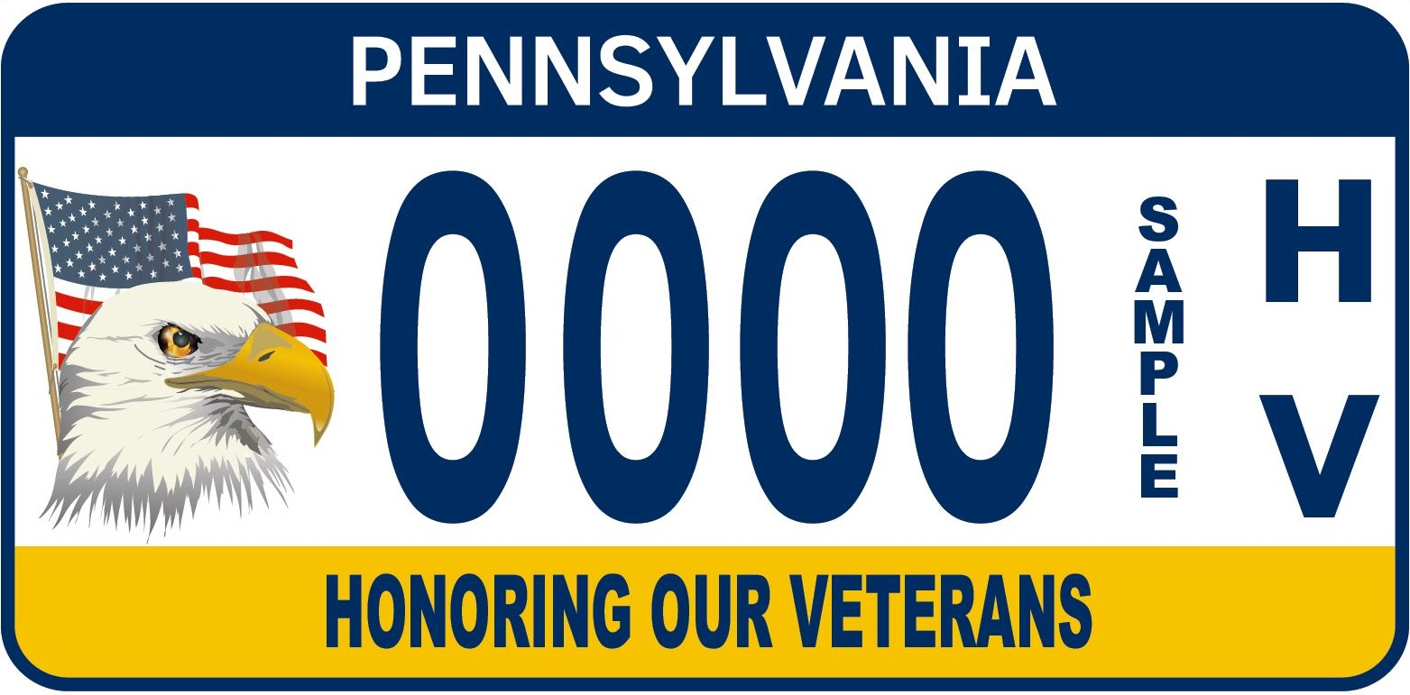 The Honoring Our Veteran License Plate