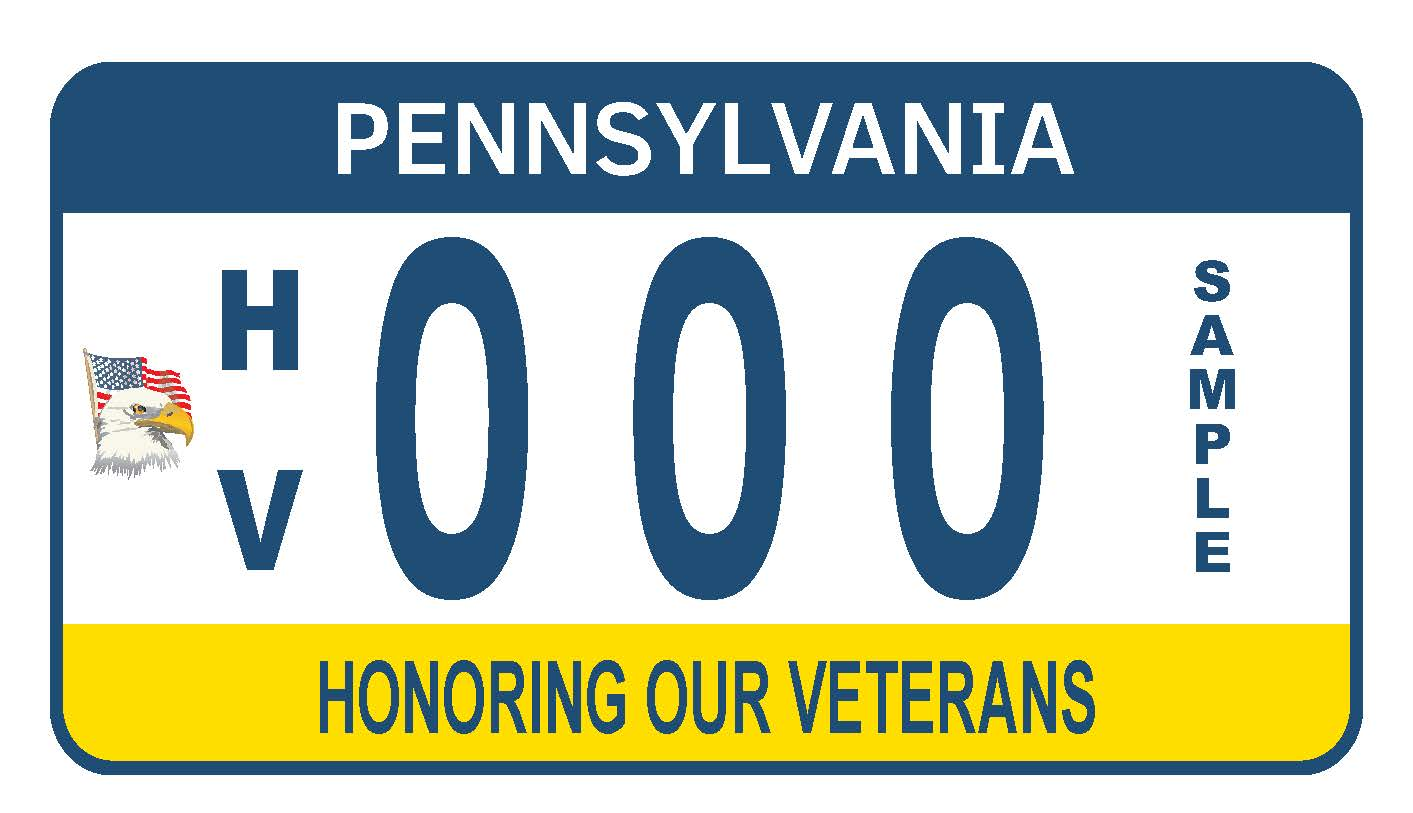 The Honoring our Veterans Motorcycle Plate