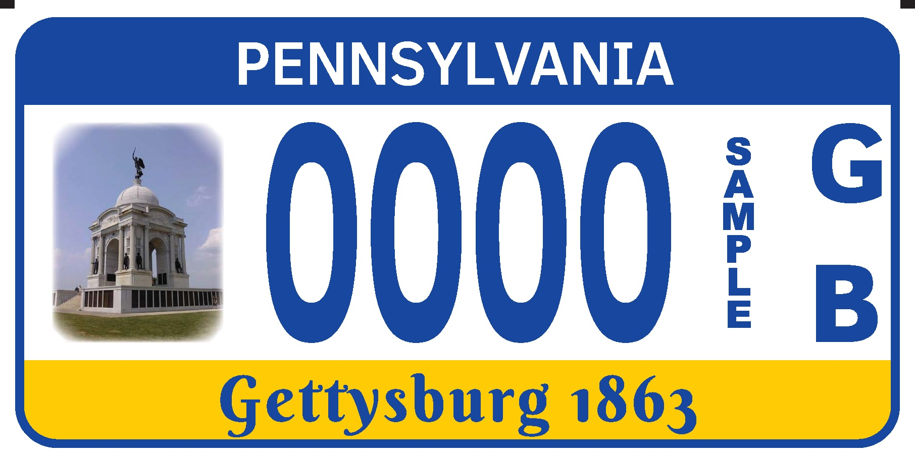 The Pennsylvania Monument License Plate