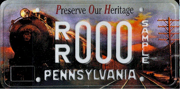 The Preserve Our Heritage License Plate